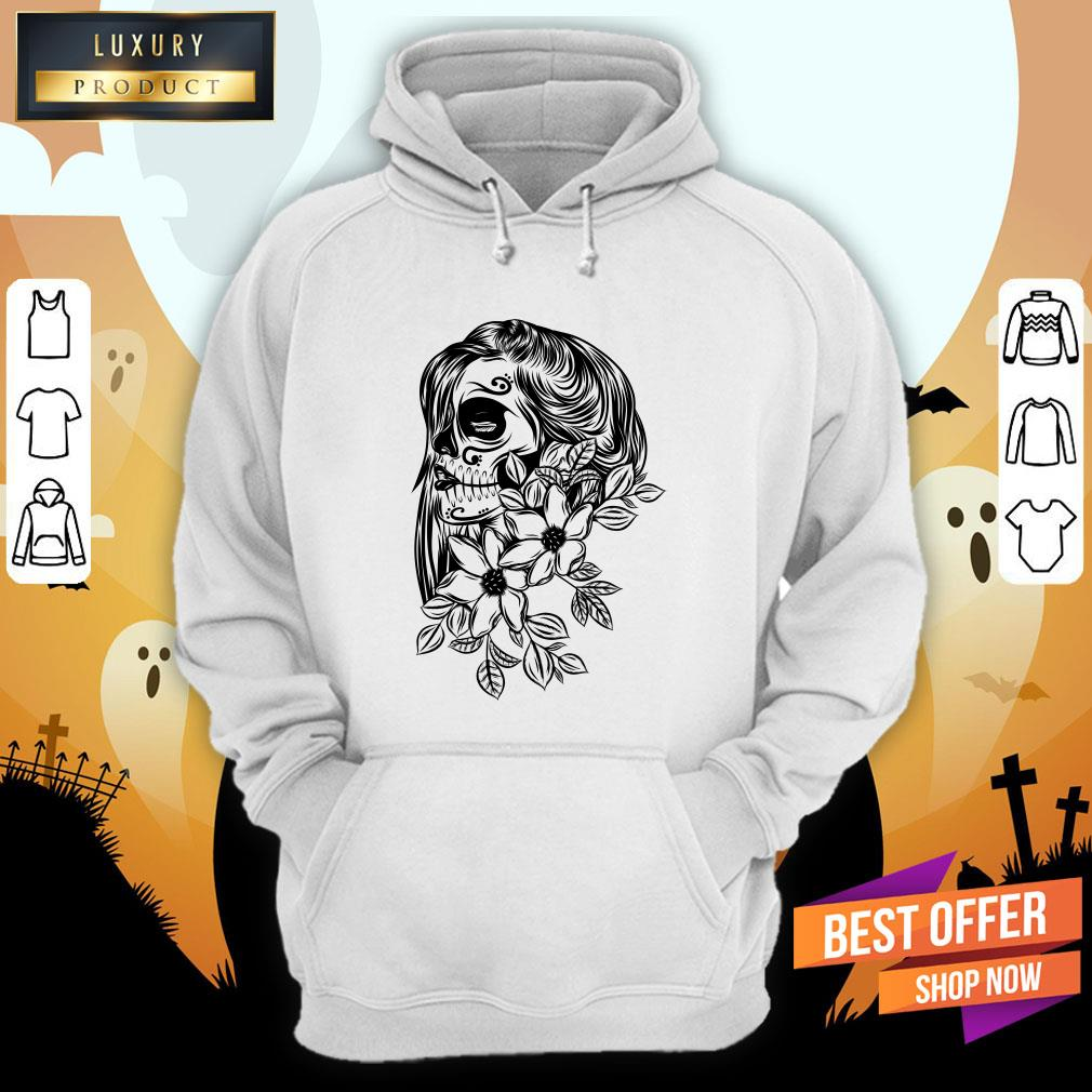 Pretty Day Dead With Flower Face Hoodie