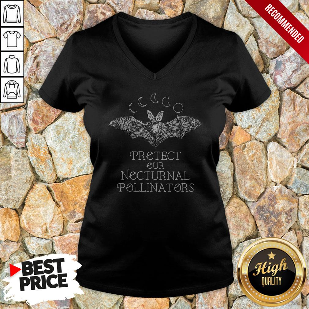 Protect Our Nocturnal Pollinators Halloween V-neck