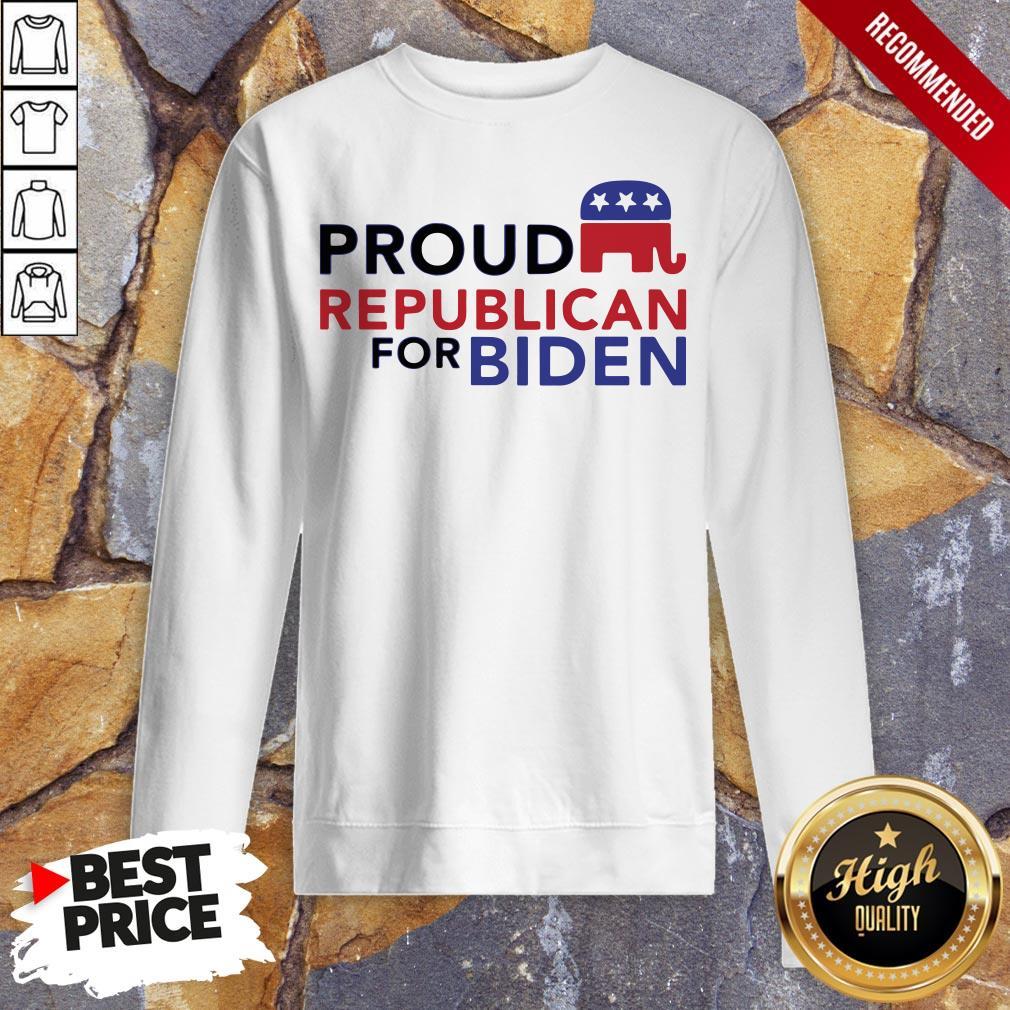 Proud Republican For Biden 2020 Sweatshirt