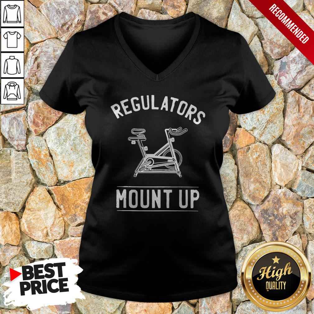 Regulators Mount Up Spin Class Cycling Regulators Mount Up Spin Class Cycling V-neck