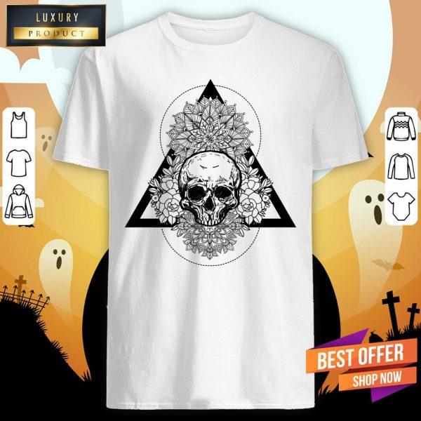 Skull Flower Day Of The Dead Shirt