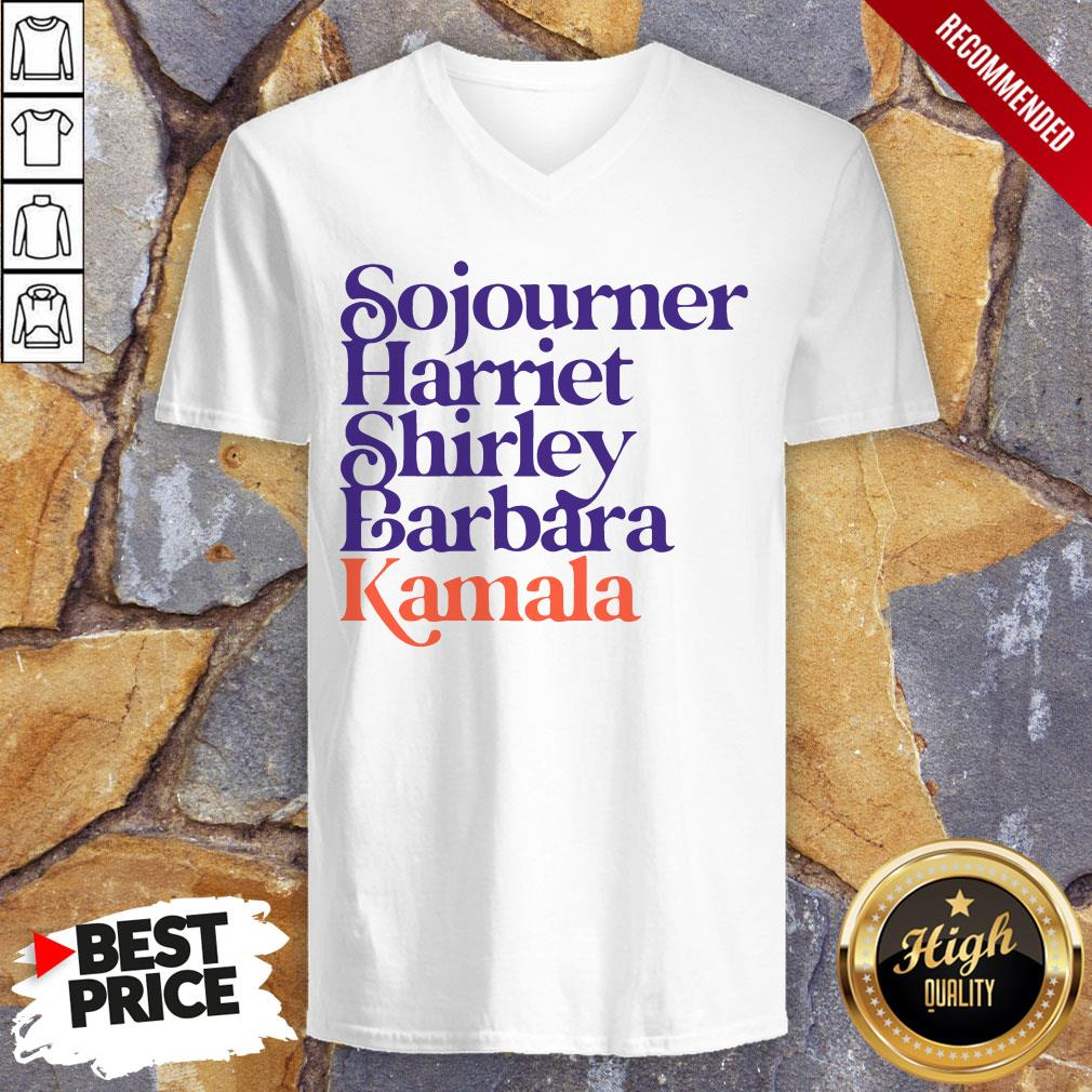 Sojourner Harriet Shirley Barbara Kamala V-neck