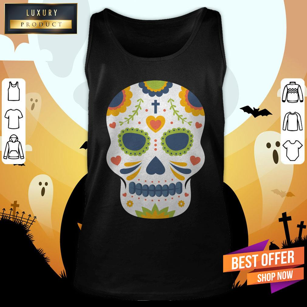 Sugar Skull Day Of Dead Dia De Los Muertos Tank Top
