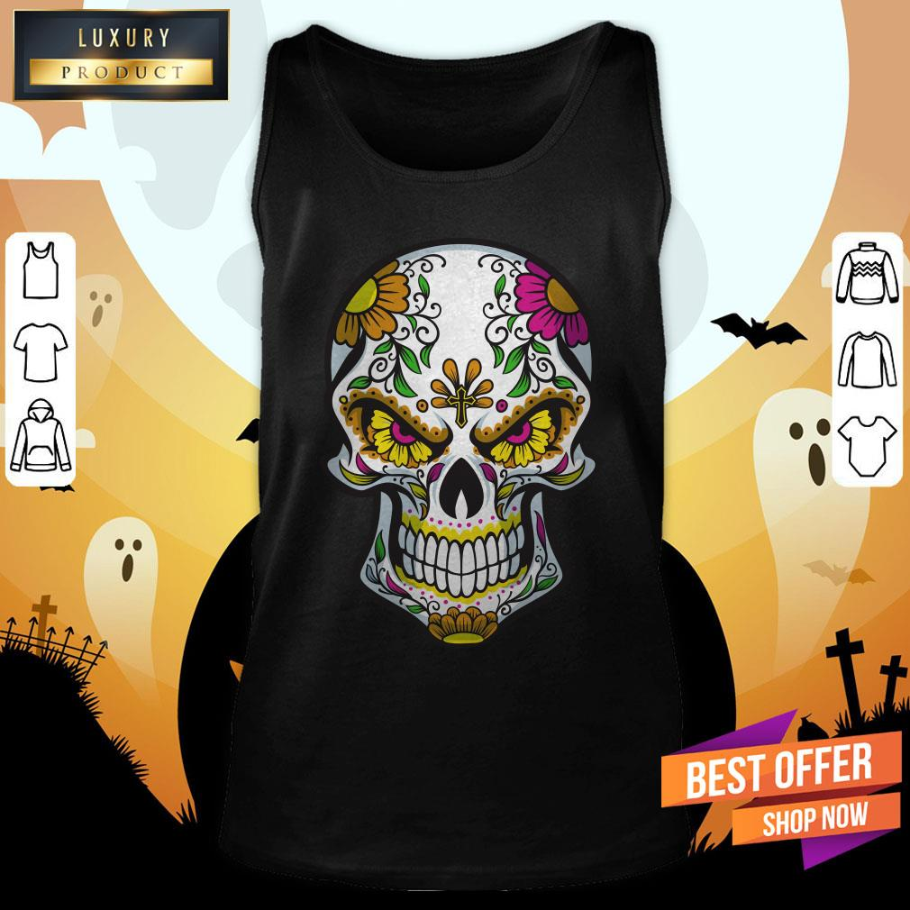 Sugar Skull Day Of Dead Dia De Muertos Tank Top
