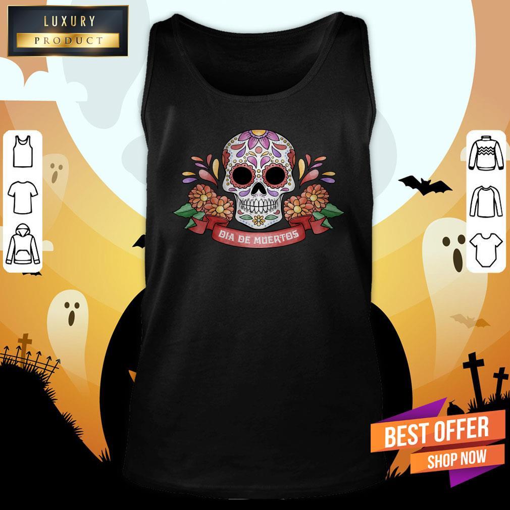 Sugar Skull Dia De Muertos Day Dead Tank Top