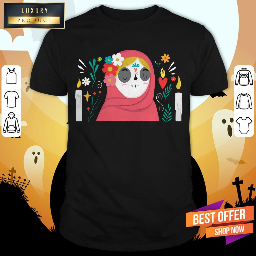 Sugar Skull Girl Day Of Dead Muertos Shirt
