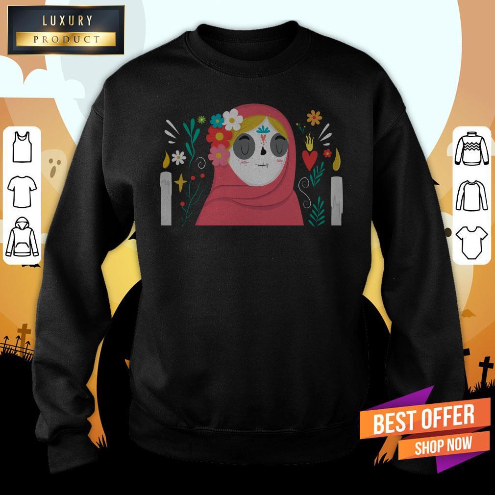 Sugar Skull Girl Day Of Dead Muertos Sweatshirt