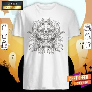 Sugar Skull Simple Day Of The Dead Vintage Shirt