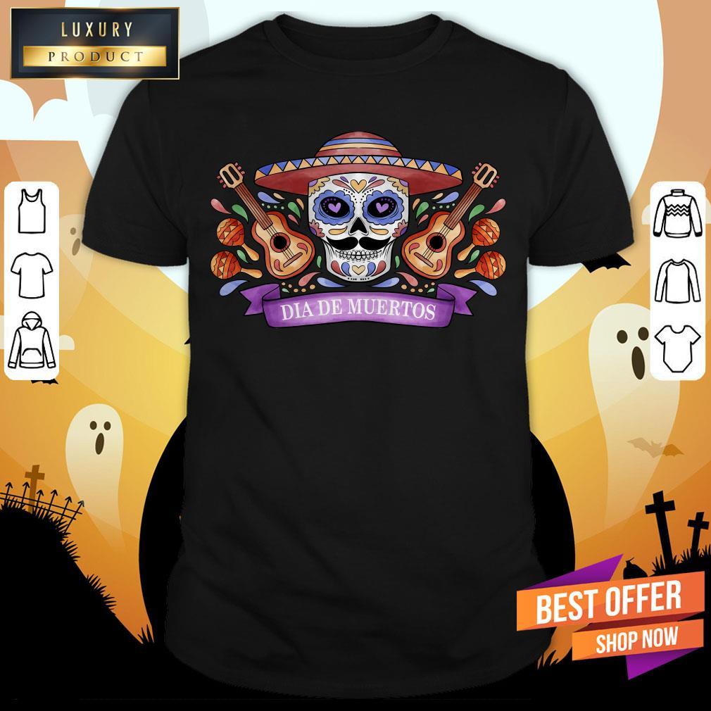 The Mexican Dia De Muertos Sugar Skull Shirt