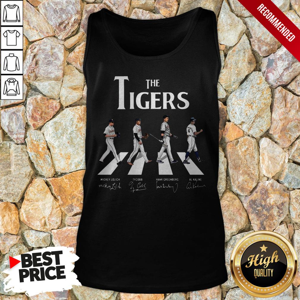 The Tigers Abbey Road Signatures Tank Top