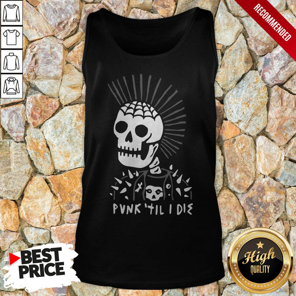 Top Punk Til I Die HalloweenTop Punk Til I Die Halloween Tank Top