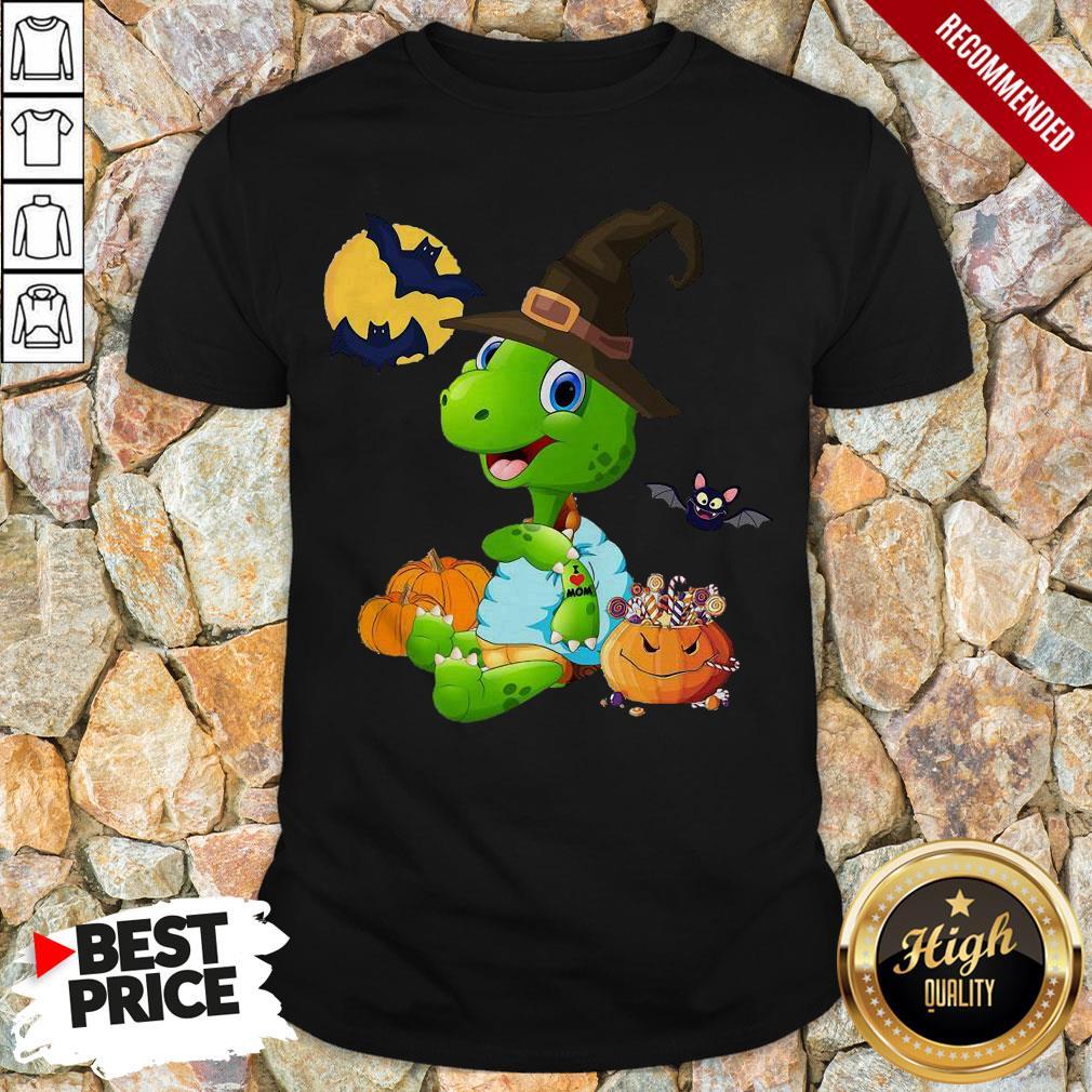 Turtle Witch Tattoo I Love Mom Halloween Shirt