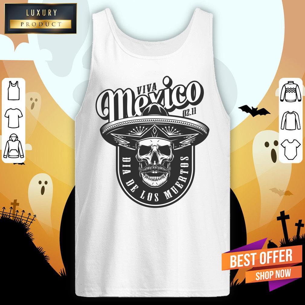 Viva Mexico Skull Dia De Los Muertos Tank Top
