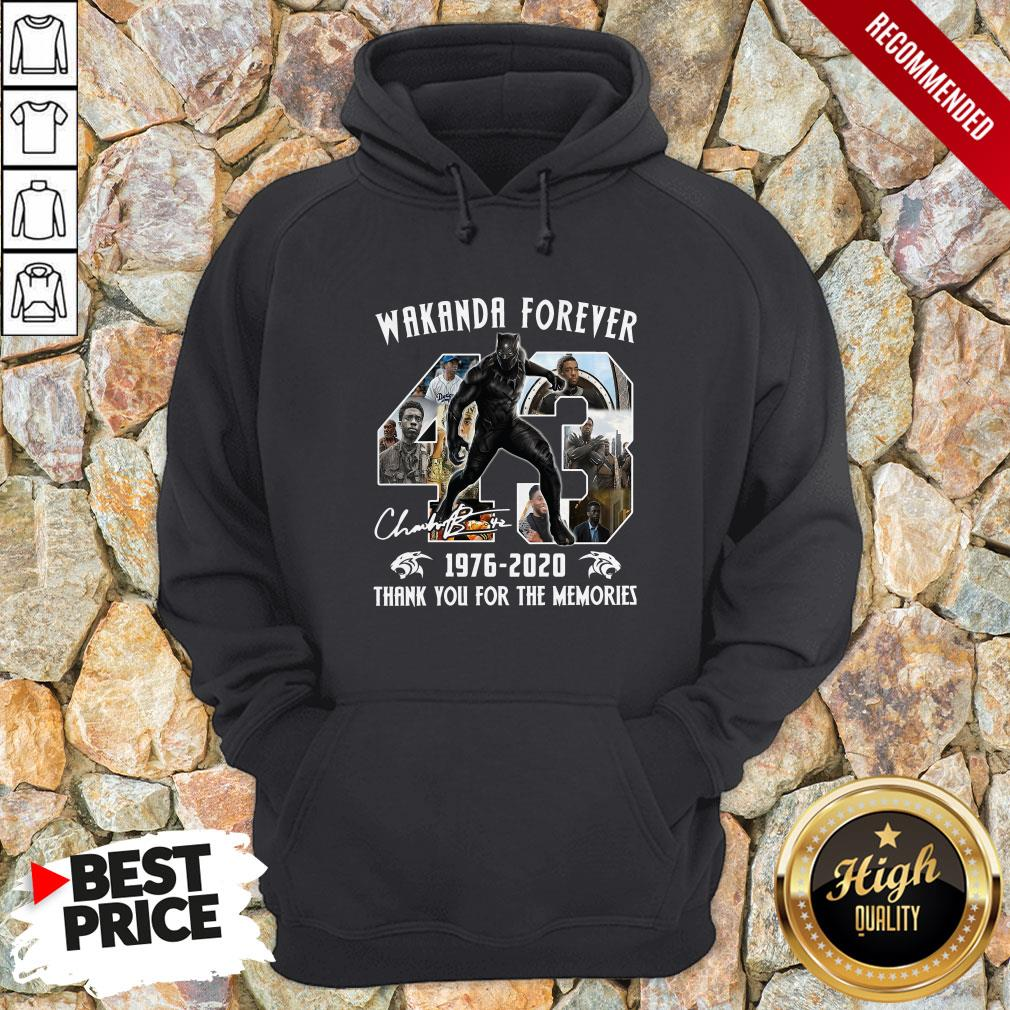 Wakanda Forever 1976-2020 Thank You For The Memories 1Signature Hoodie
