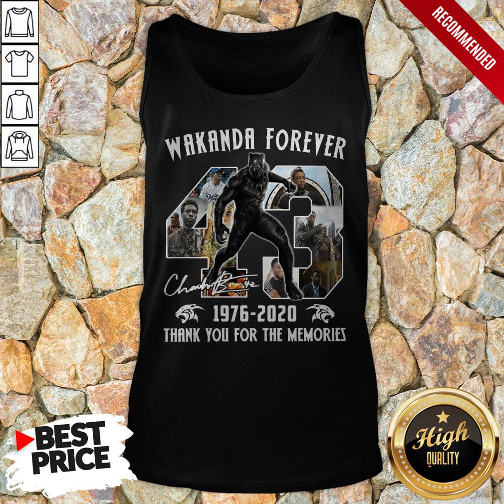 Wakanda Forever 1976-2020 Thank You For The Memories 1Signature Tank Top