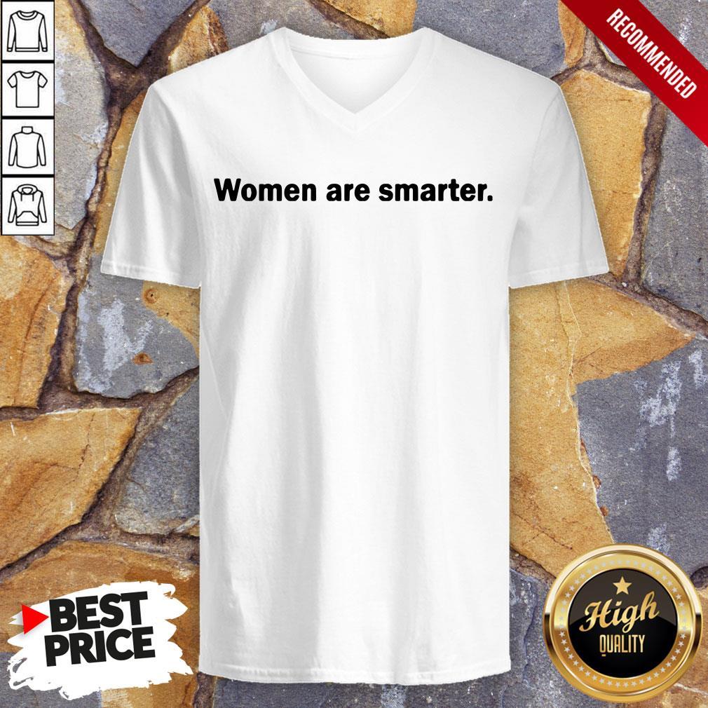 Women Are Smarter V-neck