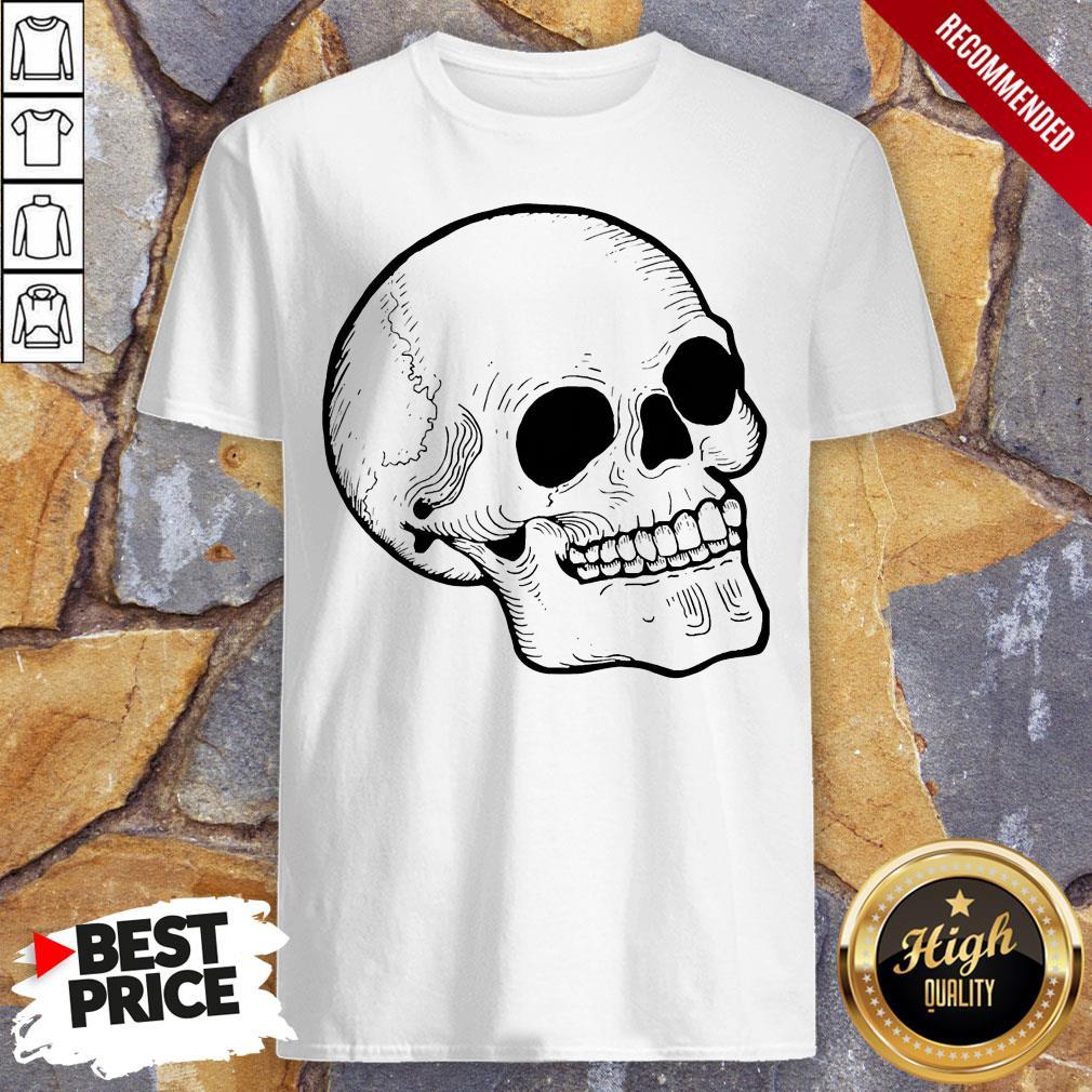 Woodcut Skull Tattoo Goth Occult Shirt