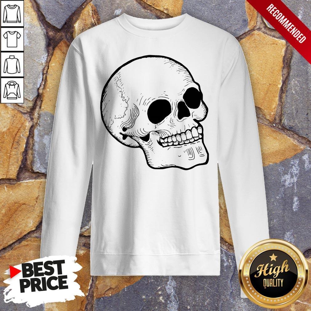 Woodcut Skull Tattoo Goth Occult Sweatshirt