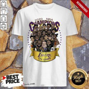2020 NBA Champions Los Angeles Lakers 17 Champs Cartoon Shirt