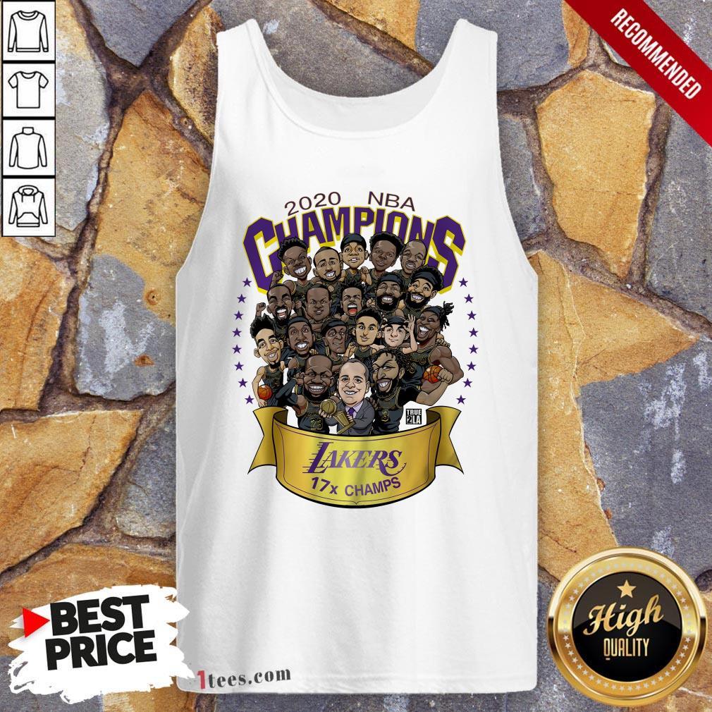2020 NBA Champions Los Angeles Lakers 17 Champs Cartoon Tank Top