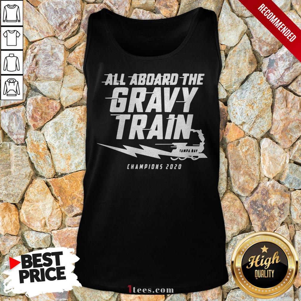 All Aboard The Gravy Train Tampa Bay Lightning Champion 2020 Tank Top
