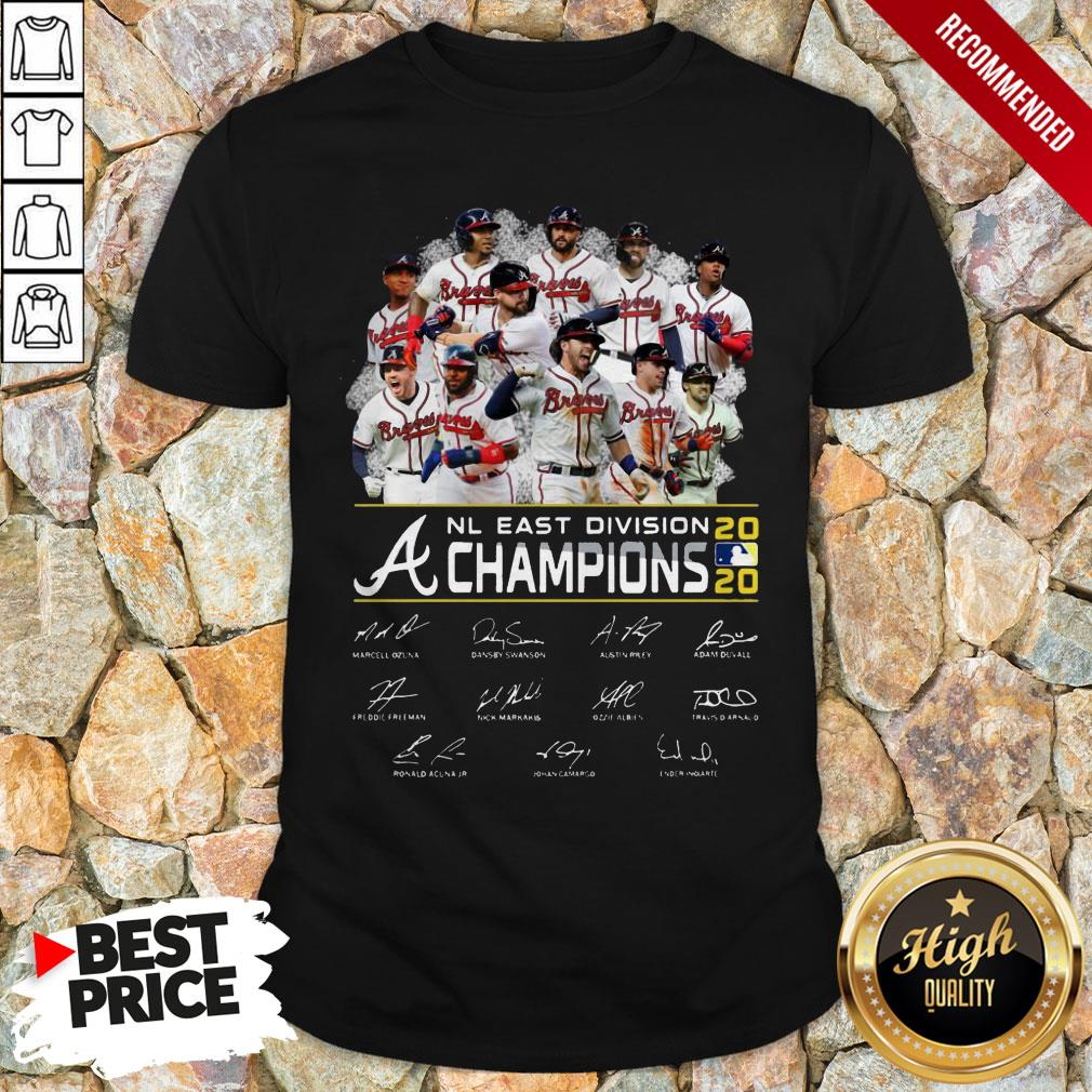 Atlanta Braves Nl East Division Champions 2020 Signatures Shirt