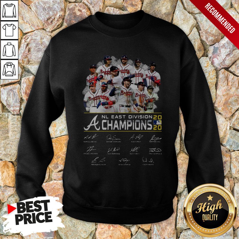 Atlanta Braves Nl East Division Champions 2020 Signatures Sweatshirt