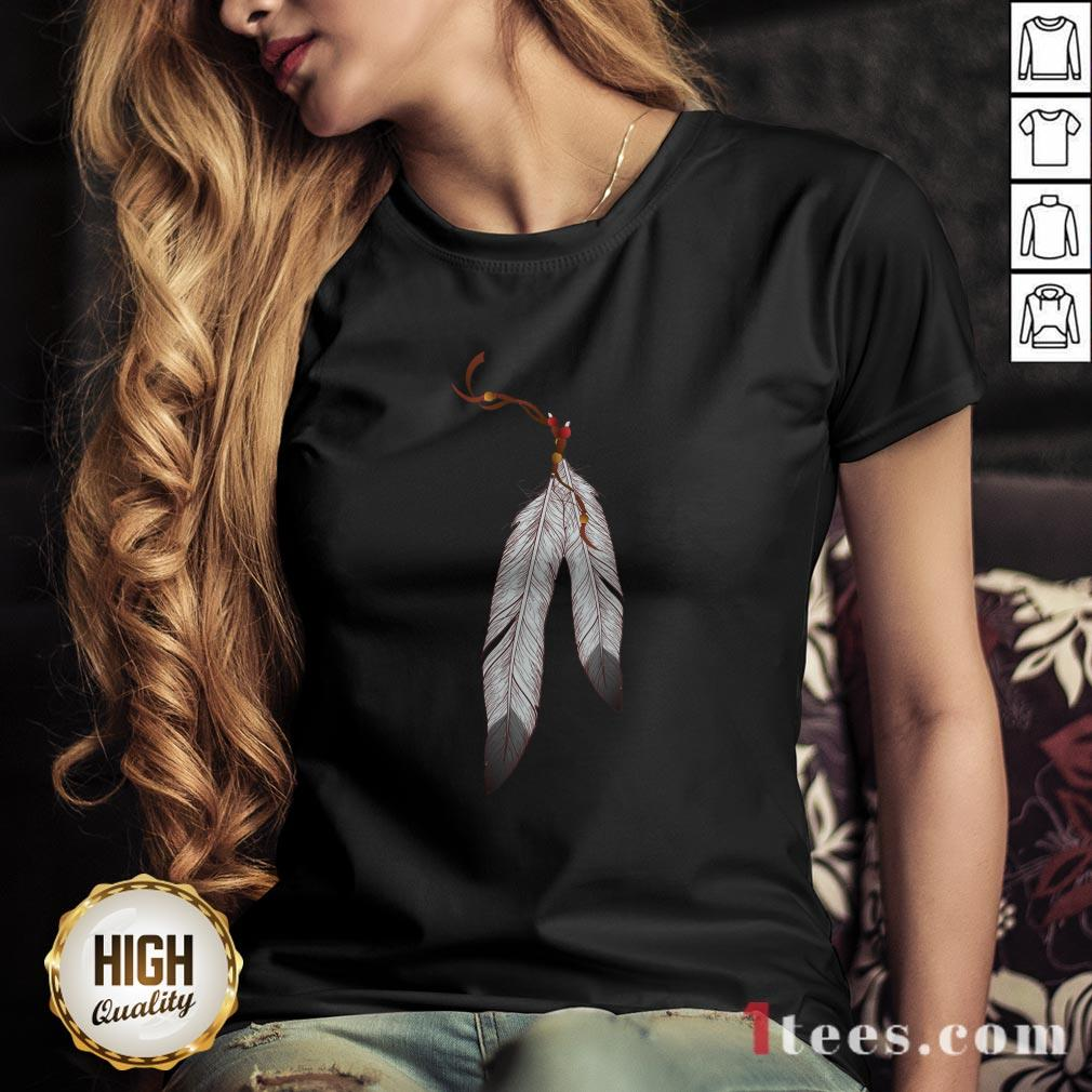 Awesome Native American Heart V-neck