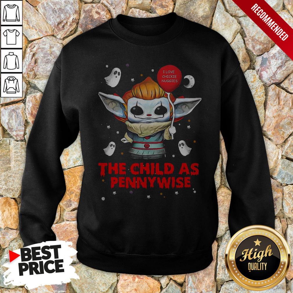 Baby Yoda Balloon The Child As Pennywise Hallowee Sweatshirt
