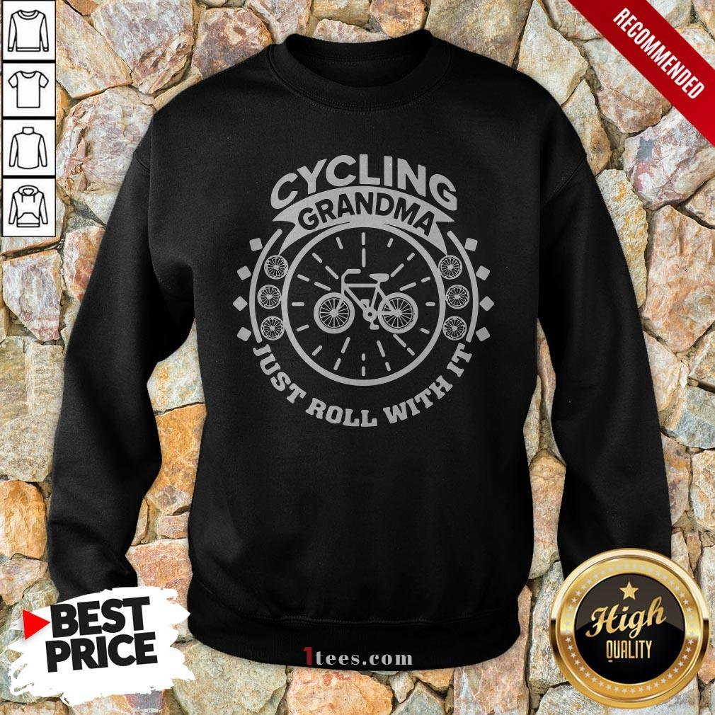 Cycling Grandma Just Roll With It