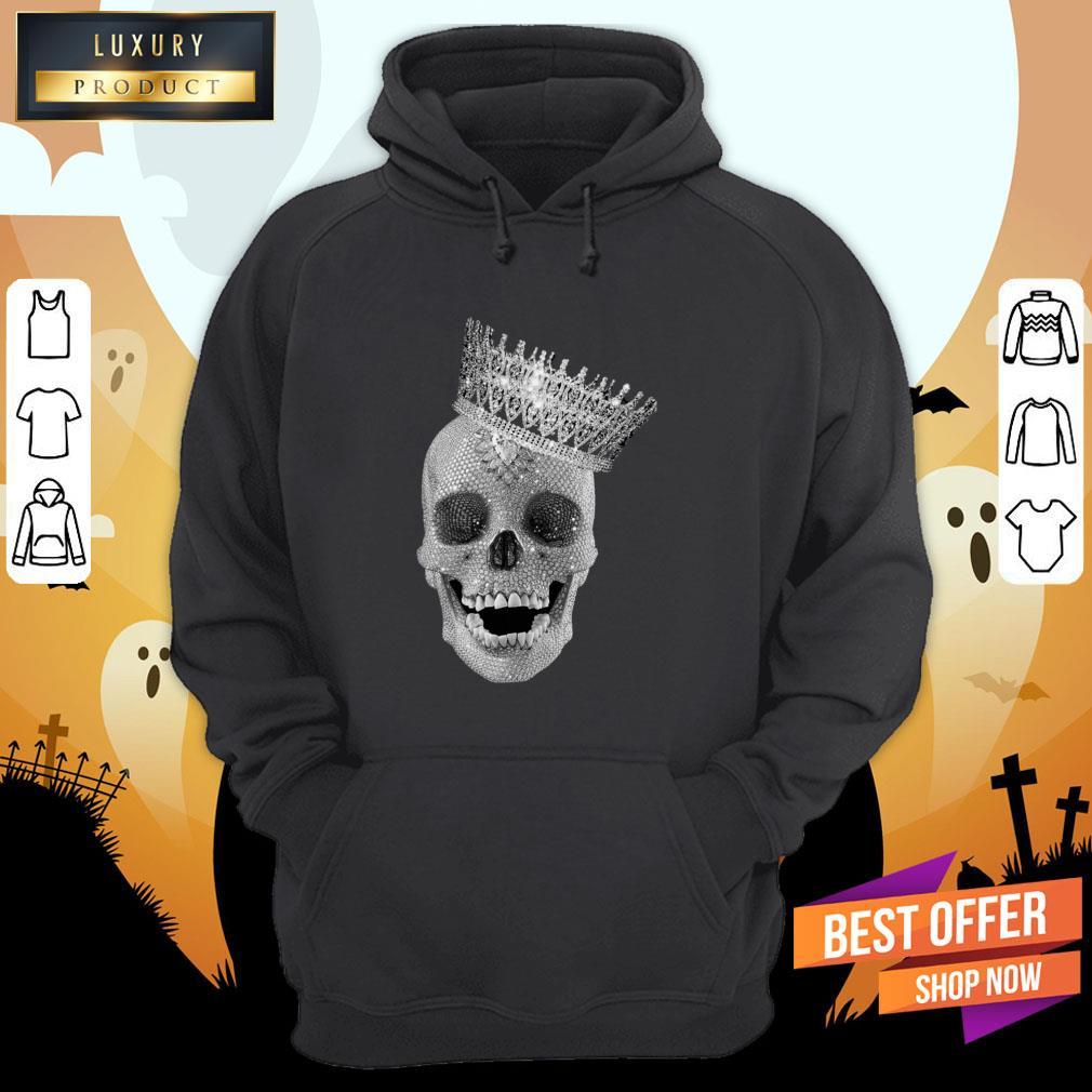 Diamond Skull Wearing Crown Hoodie