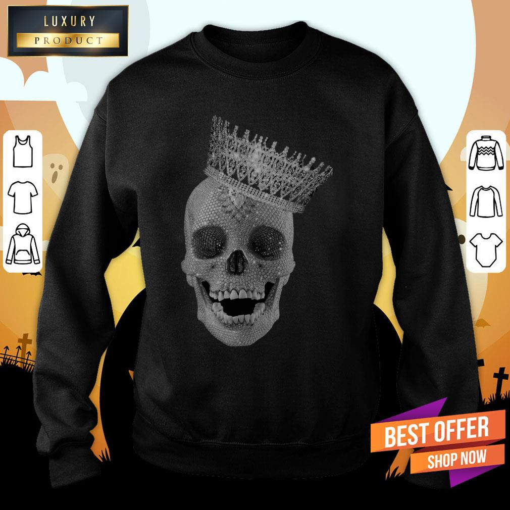 Diamond Skull Wearing Crown Sweatshirt