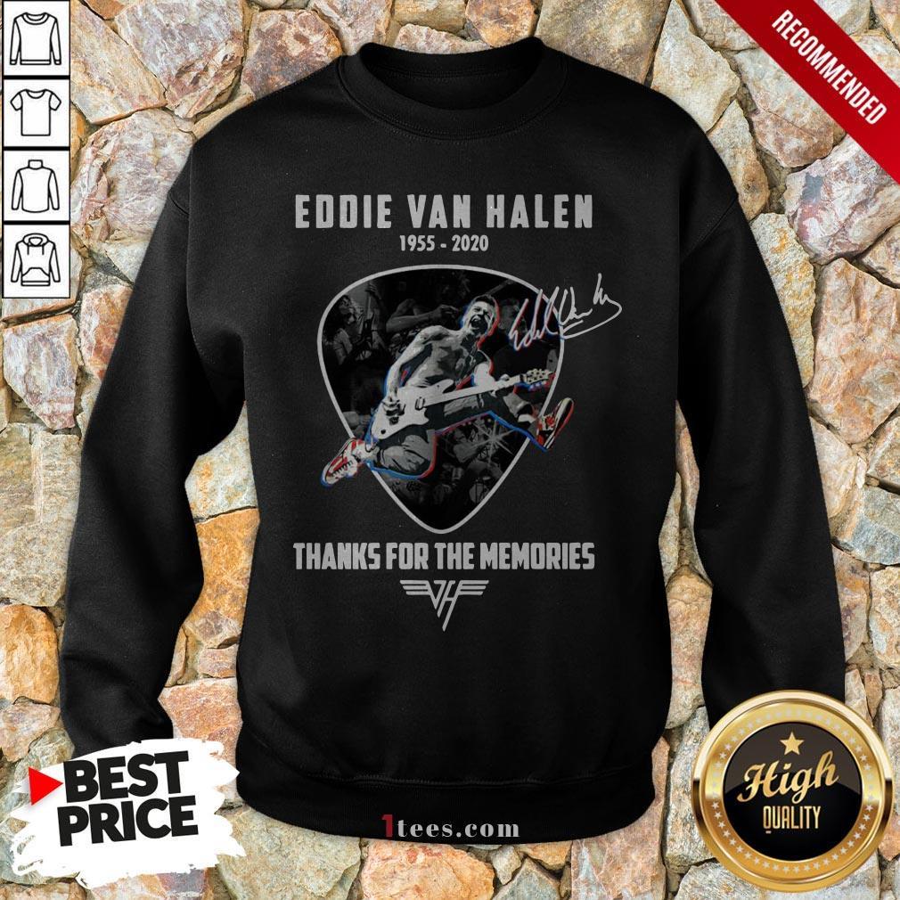 Eddie Van Halen 1955 2020 Thank For Memories Signature Sweatshirt