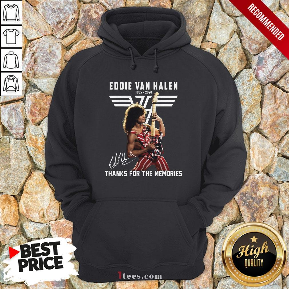 Eddie Van Halen Thank For The Memories Signature Hoodie