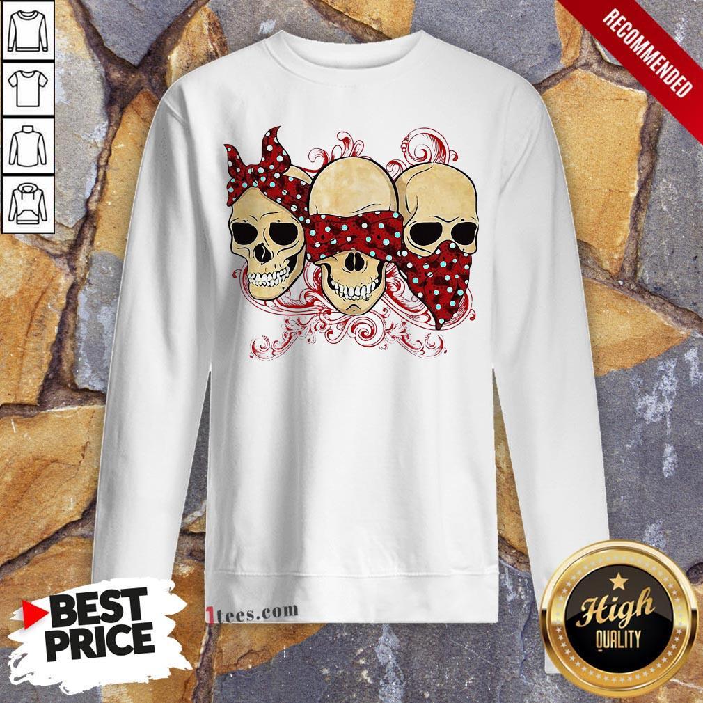 Funny Three Skull Halloween Sweatshirt