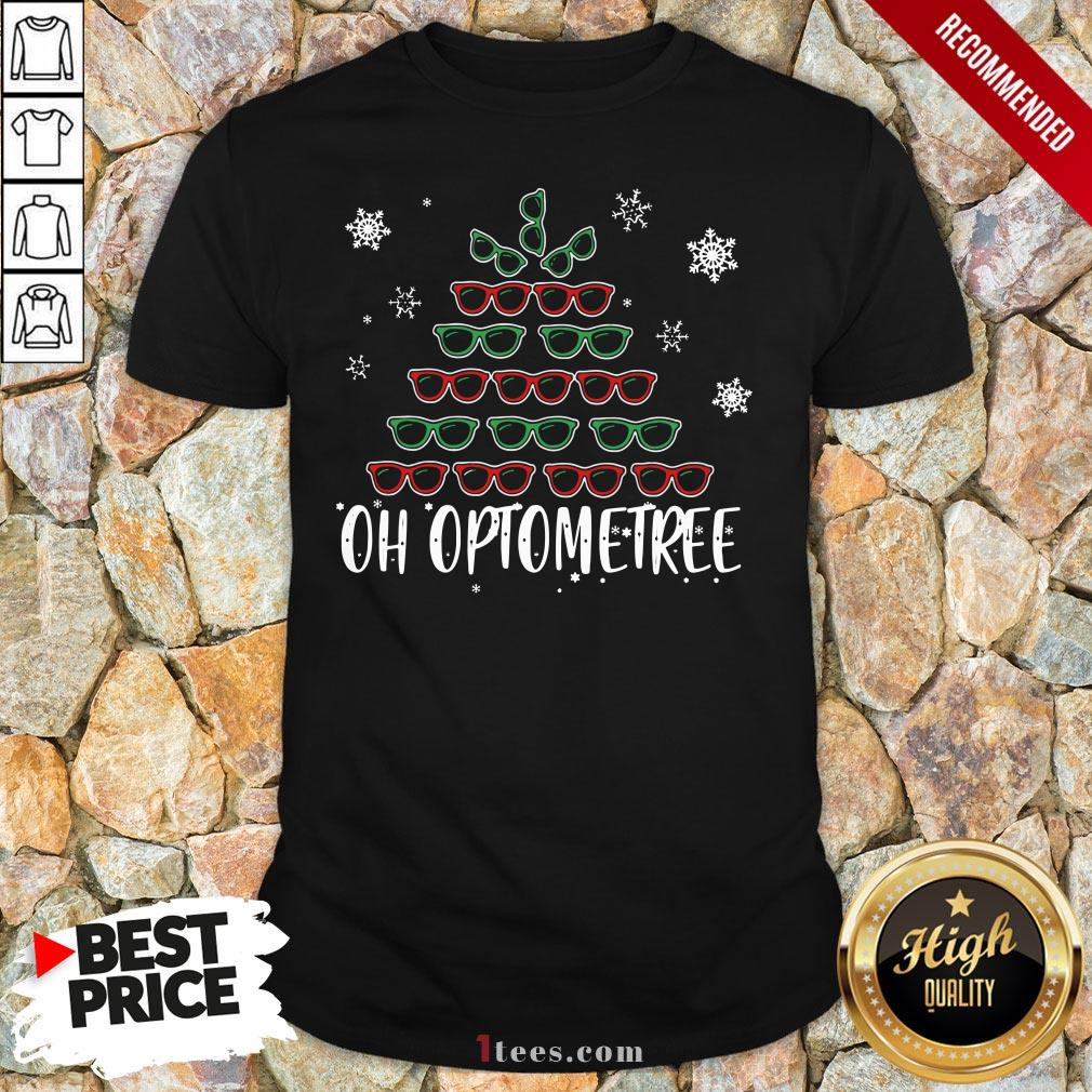 Glasses Christmas Tree Oh Optometree Ugly Christmas Shirt