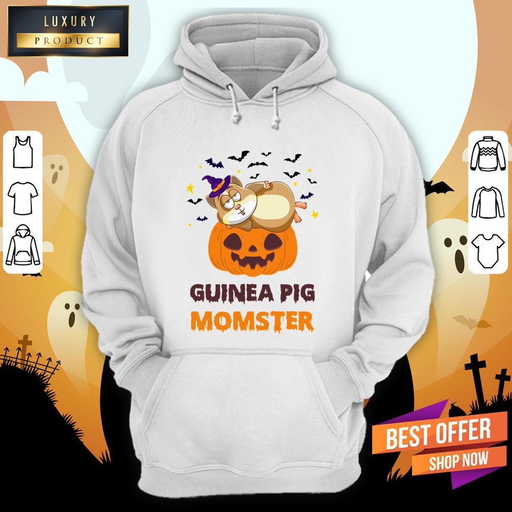 Guinea Pig Momster Pumpkin Monster Funny Halloween Hoodie