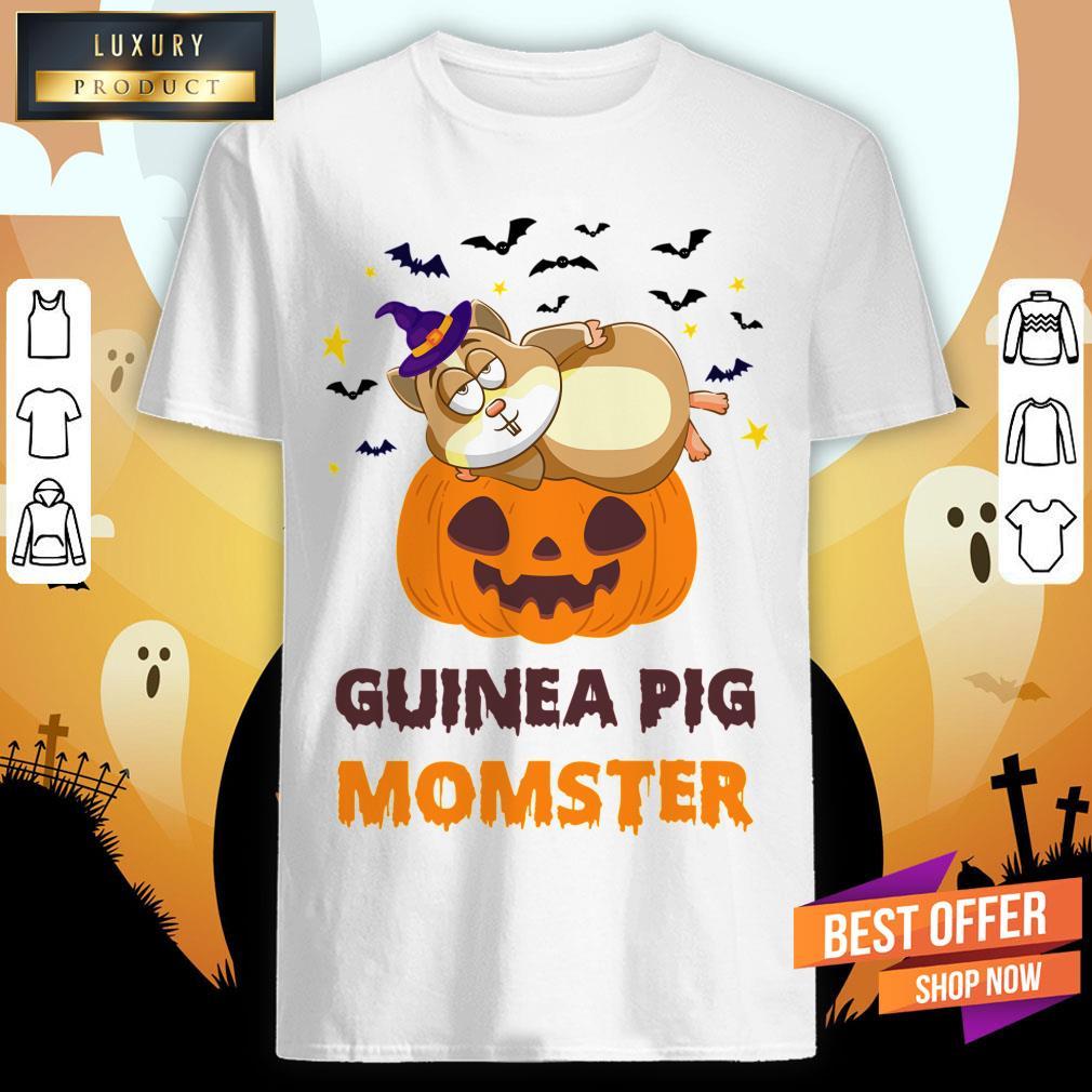 Guinea Pig Momster Pumpkin Monster Funny Halloween Shirt