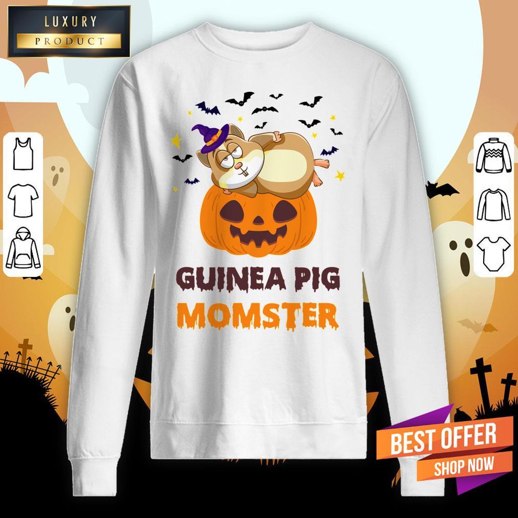 Guinea Pig Momster Pumpkin Monster Funny Halloween Sweatshirt