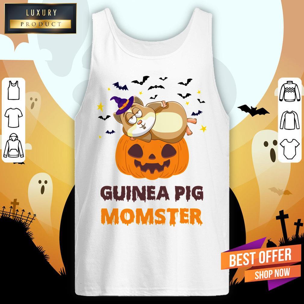 Guinea Pig Momster Pumpkin Monster Funny Halloween Tank Top