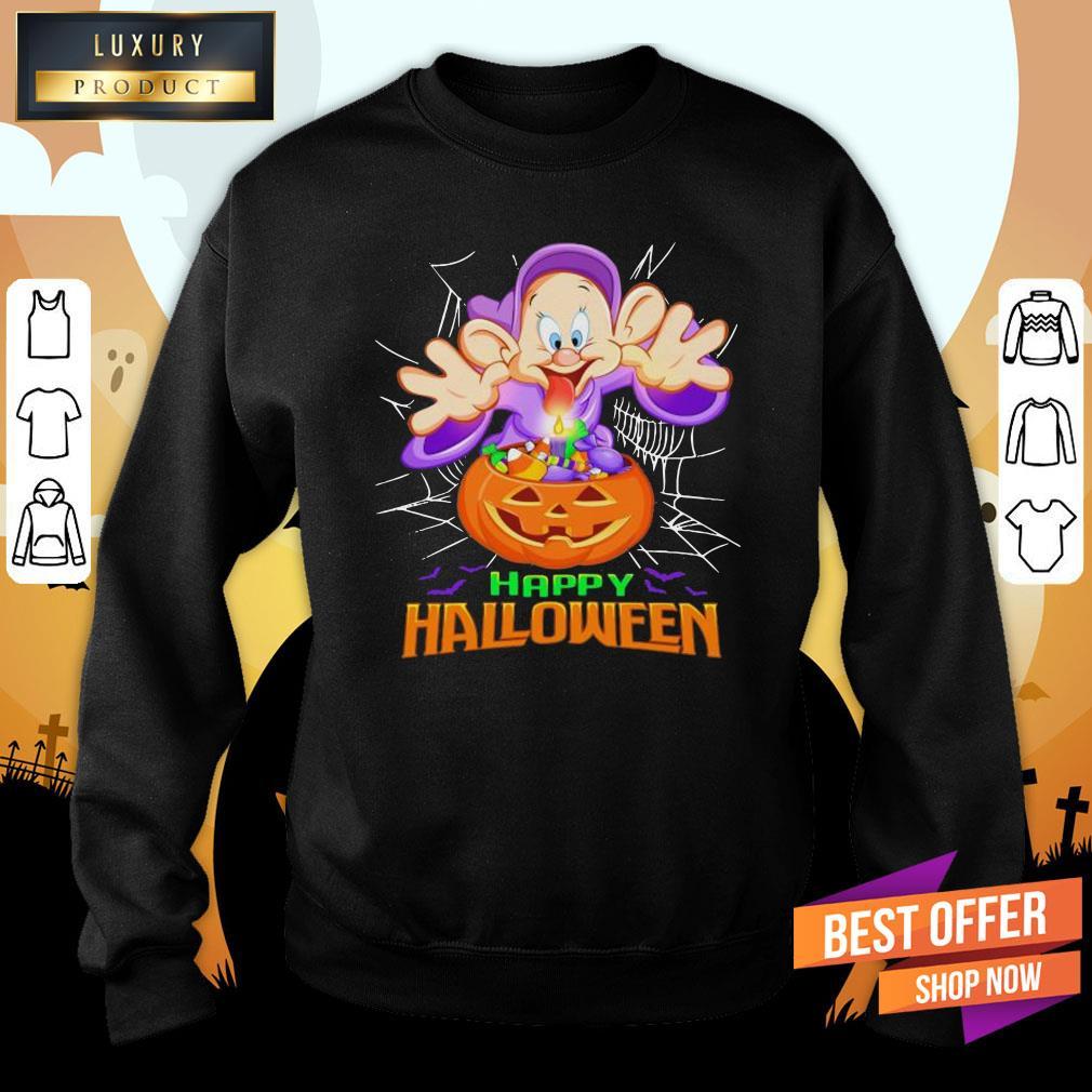 Happy Halloween Dopey Dwarf Witch Sweatshirt