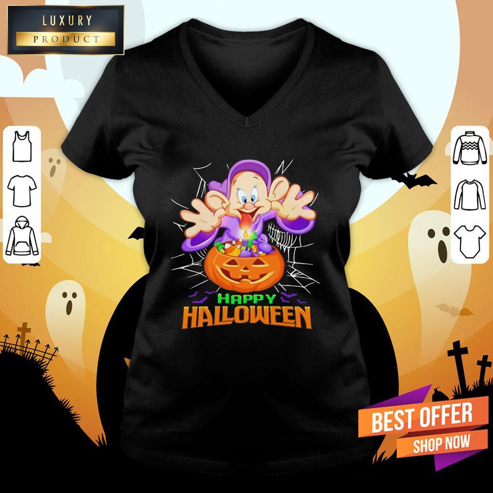 Happy Halloween Dopey Dwarf Witch V-neck