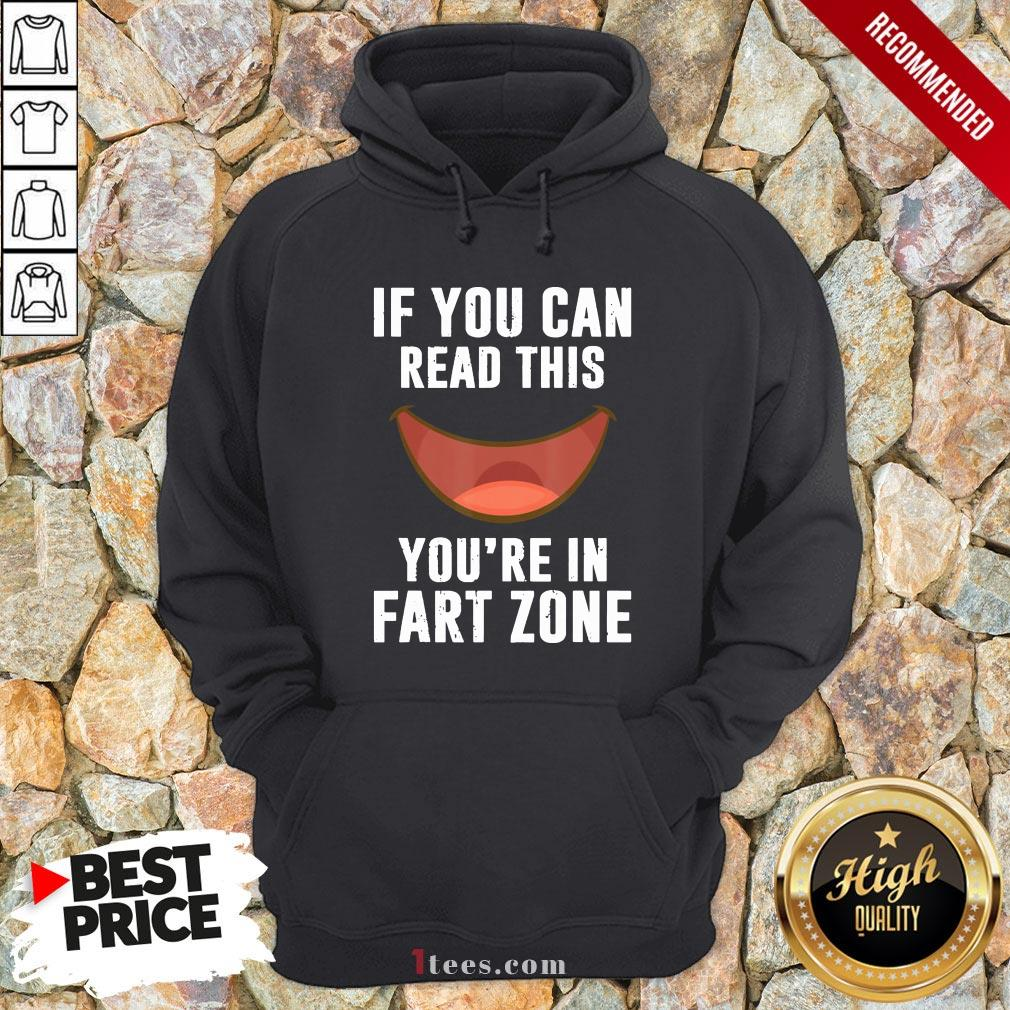 If You Can Read This You'Re In Fart Zone Funny Humor Quote Hoodie