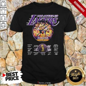 Los Angeles Lakers 2020 NBA Champions All Players Signatures Shirt