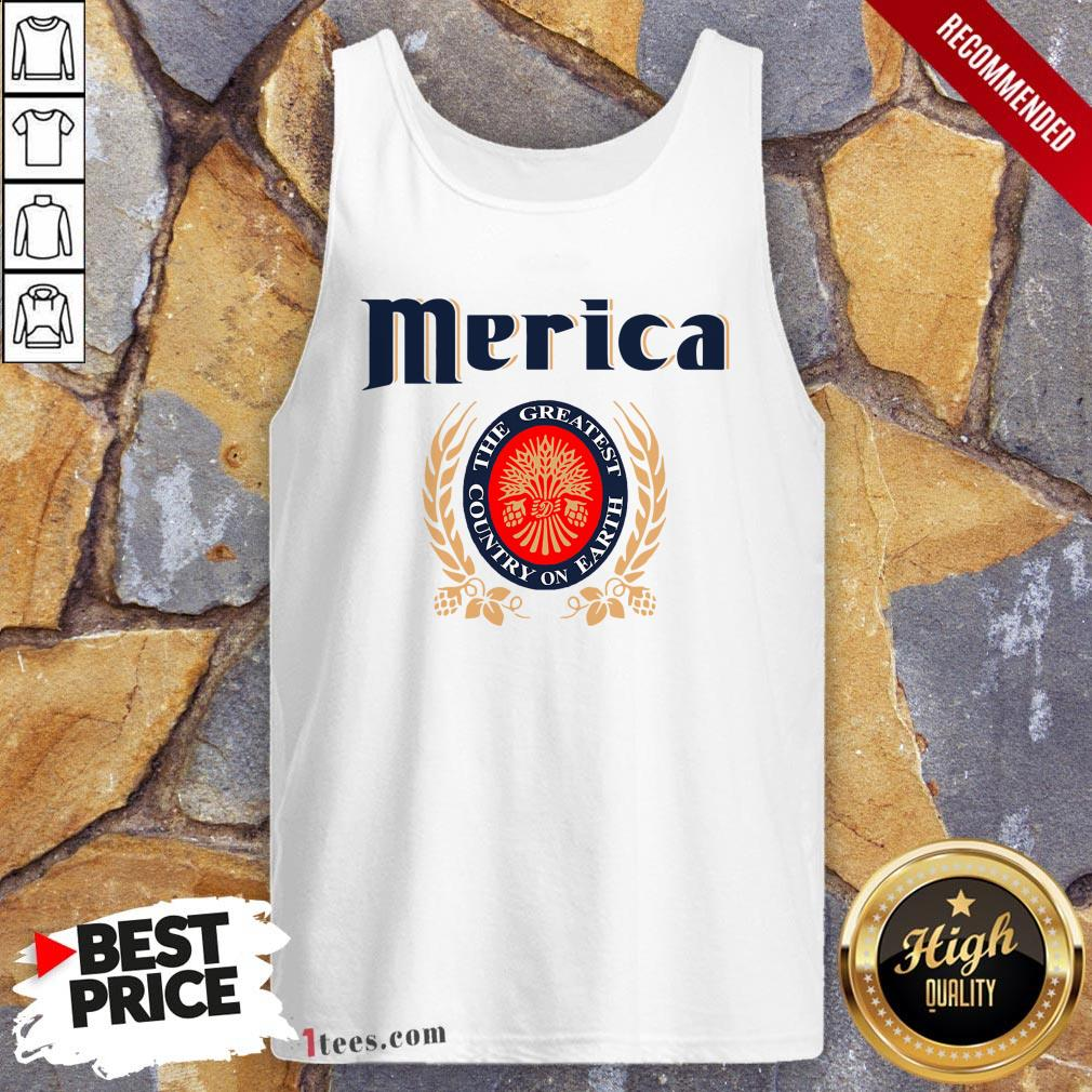 Merica The Greatest Country On Earth Tank Top