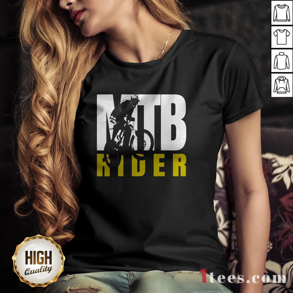 MTB Rider Man Run Bike V-neck