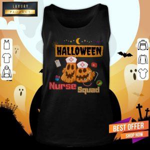 Nurse Squad Team Pumpkin Ghost Halloween Tank Top