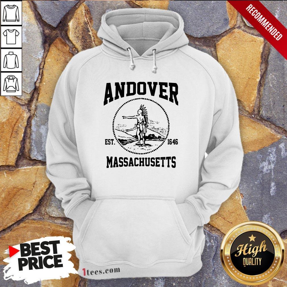 Official Andover Est 1646 Massachusetts Aboriginal People Hoodie