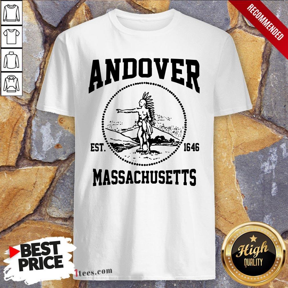 Official Andover Est 1646 Massachusetts Aboriginal People Shirt