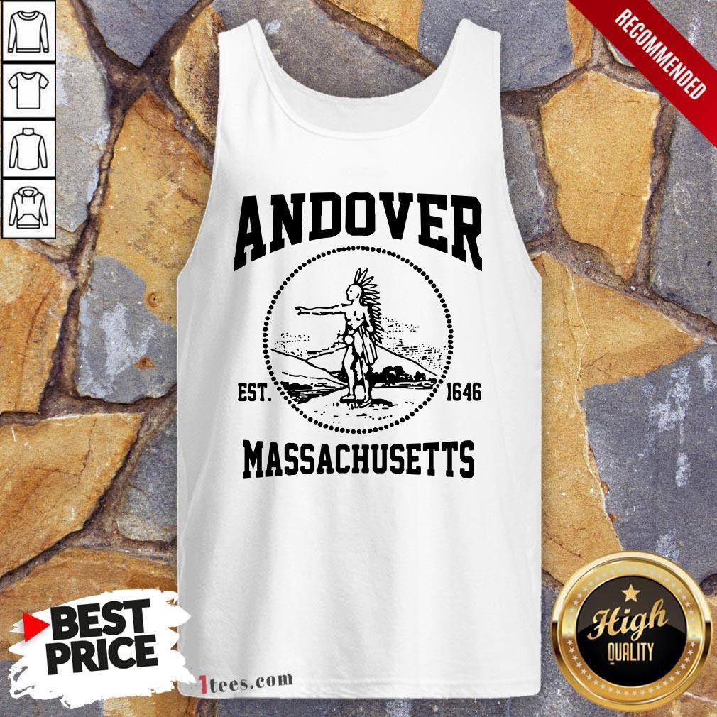 Official Andover Est 1646 Massachusetts Aboriginal People Tank Top